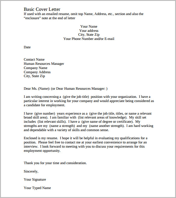 Cover Letter Template – 17+ Free Word, PDF Documents Download