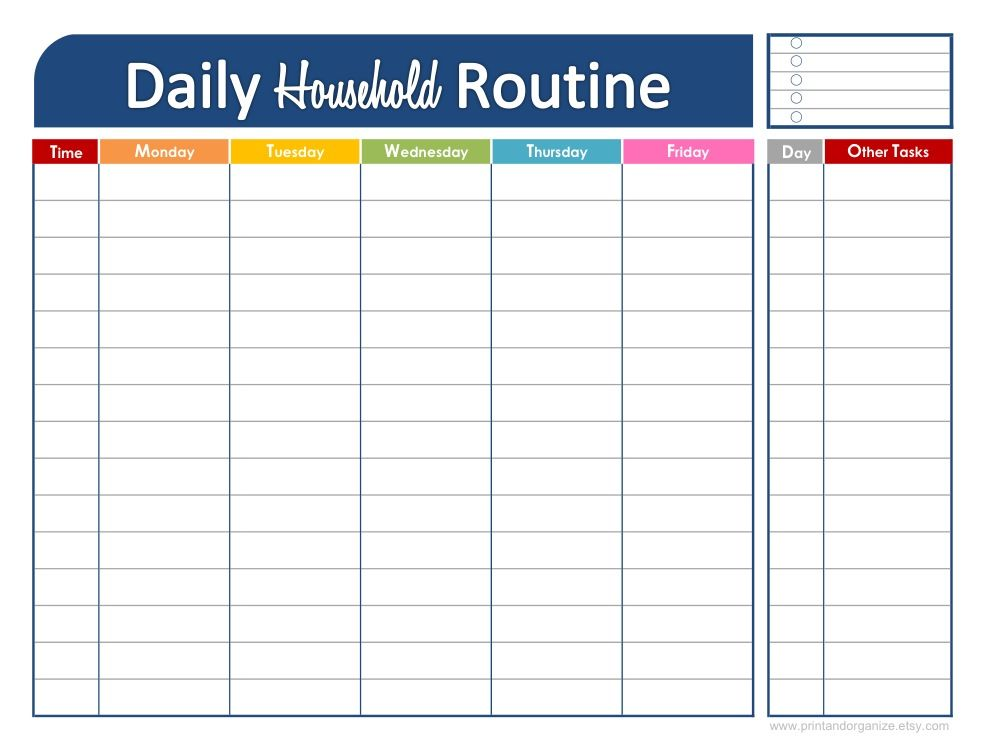 printable daily schedule for kids | click here to download this