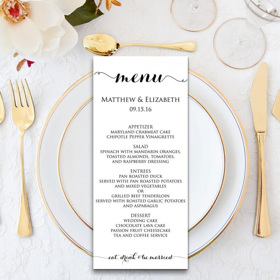 Dinner Menu Templates Free Filename | infoe link
