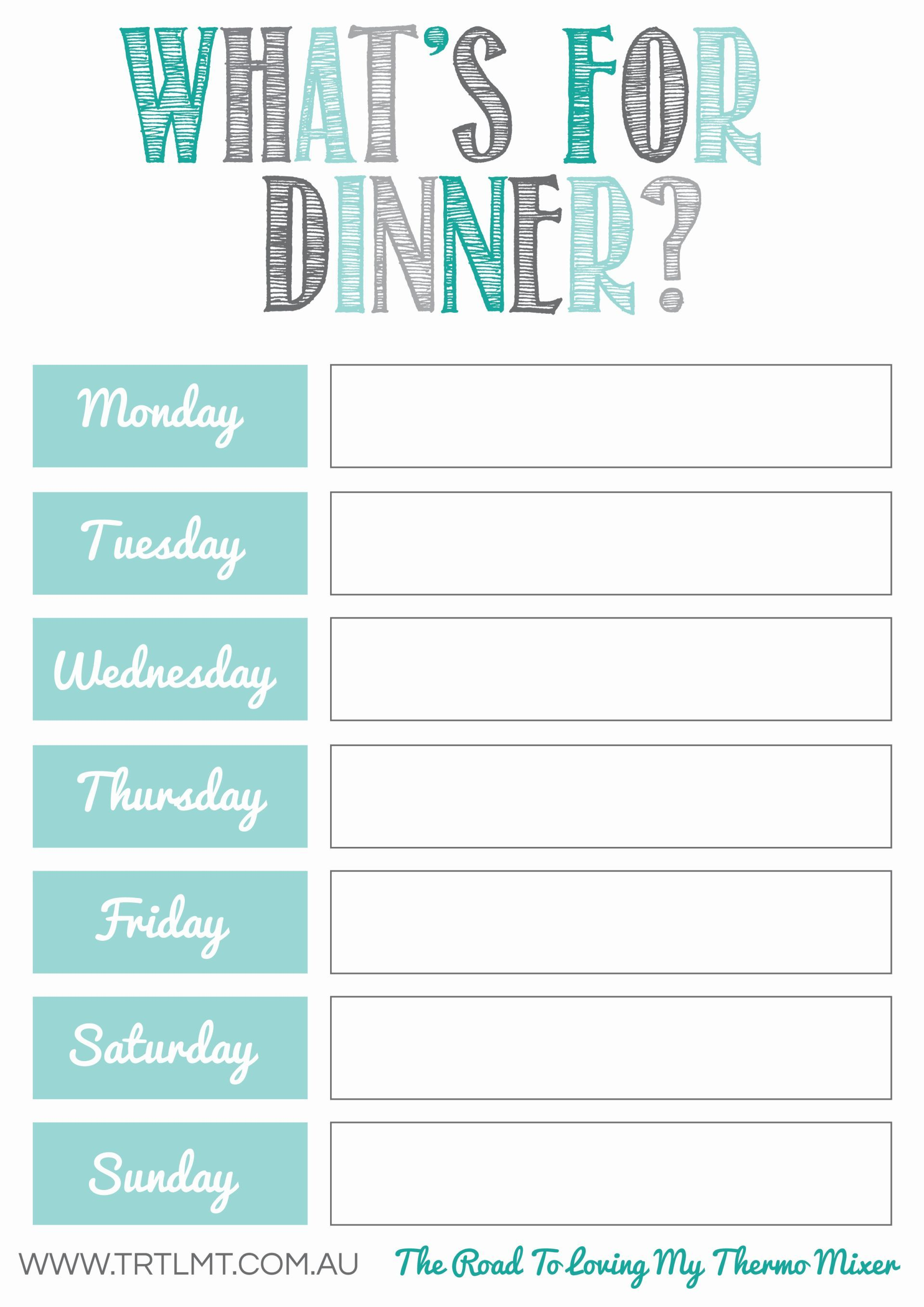 What's For Dinner 2 FB | organization | Pinterest | Meal planner