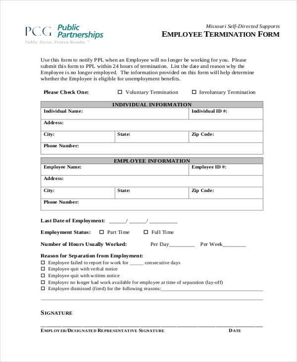 termination form   Ibov.jonathandedecker.com