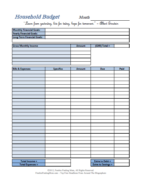 Printable Expense Spreadsheet | charlotte clergy coalition
