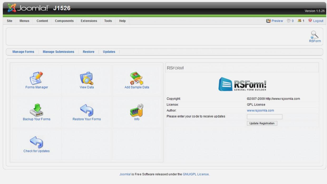 Free Joomla!® Form Builder – RSForm! – printable form creator