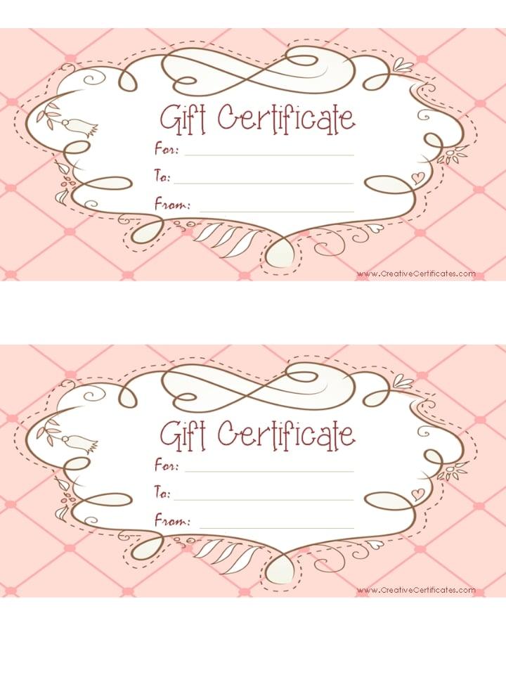 Free Printable Gift Vouchers Templates Filename | laurapo dol nick