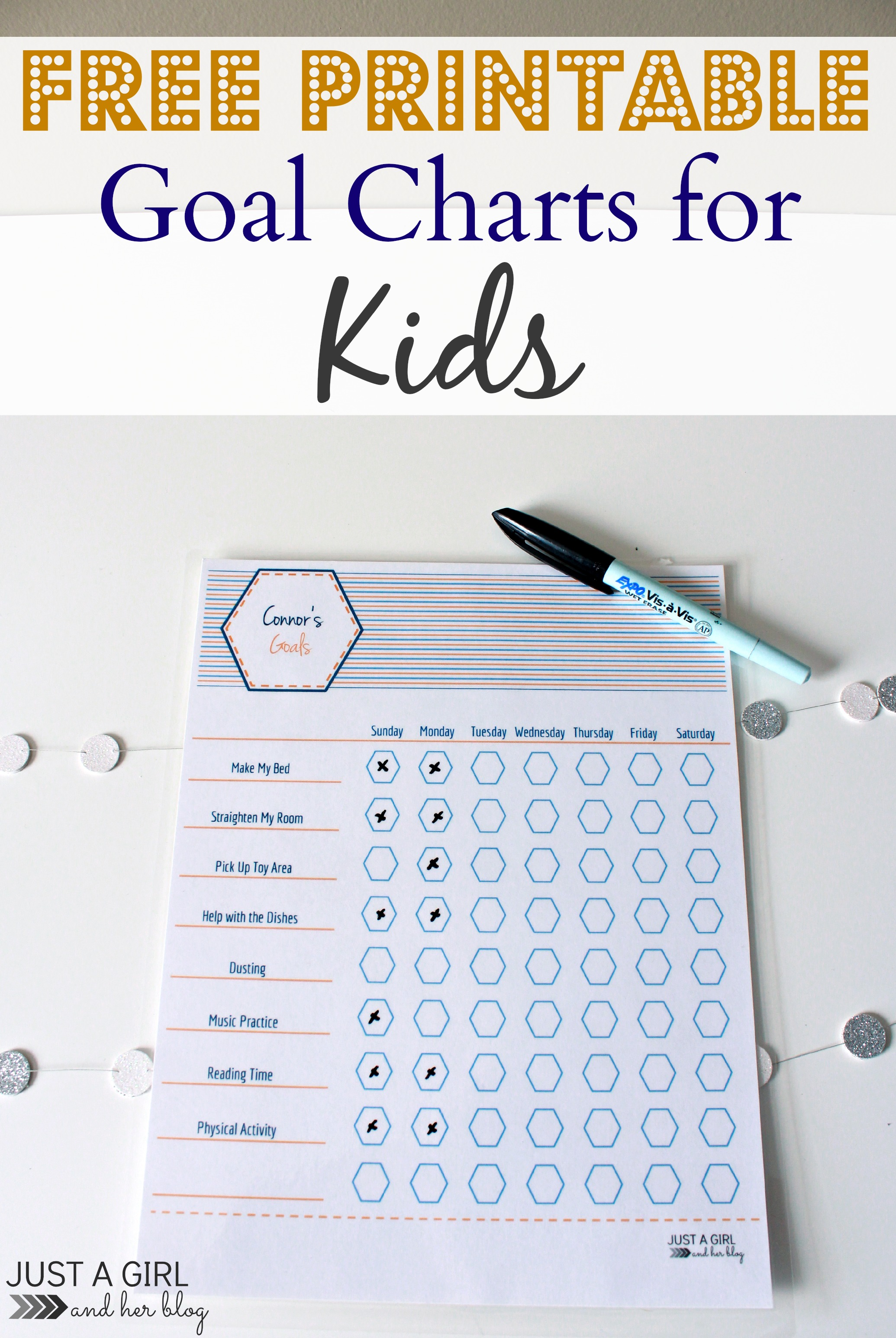 Free Printable Goal Charts for Kids   Mom 4 Real