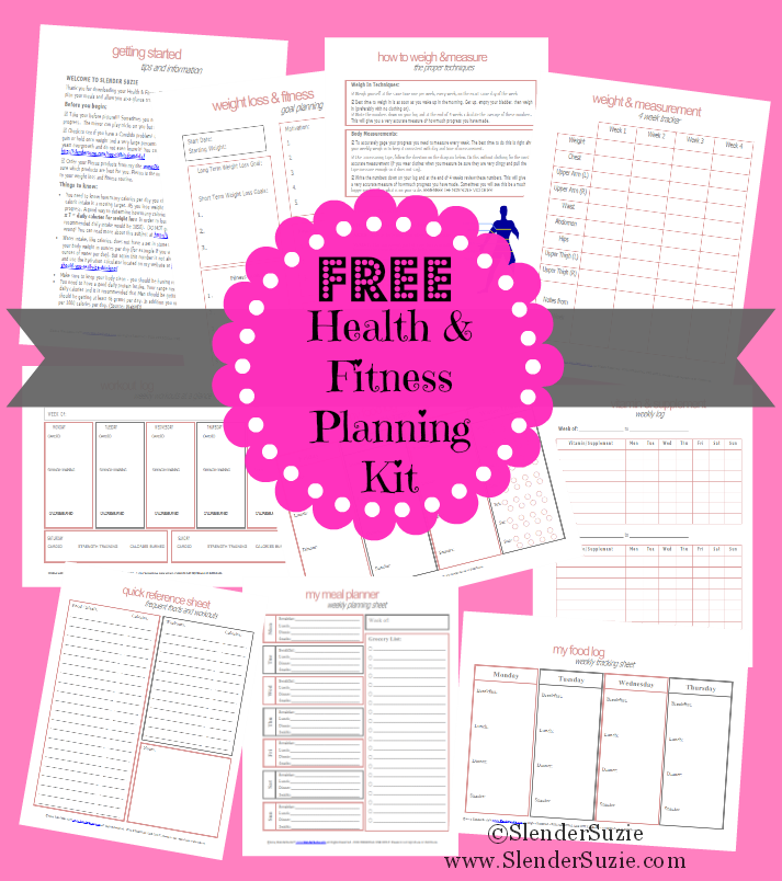 photograph relating to Free Printable Weight Loss Planner named Cost-free Printable Exercise And Physical fitness Planner keep refreshing
