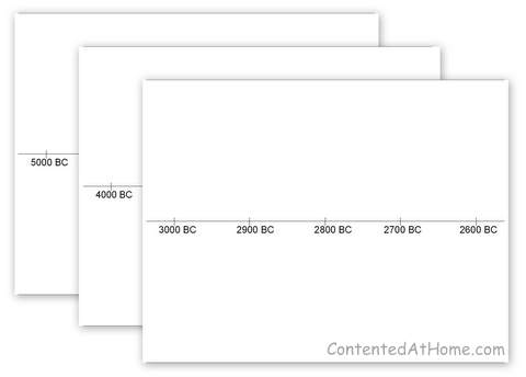 Free Printable Timeline Notebook Pages | Contented at Home