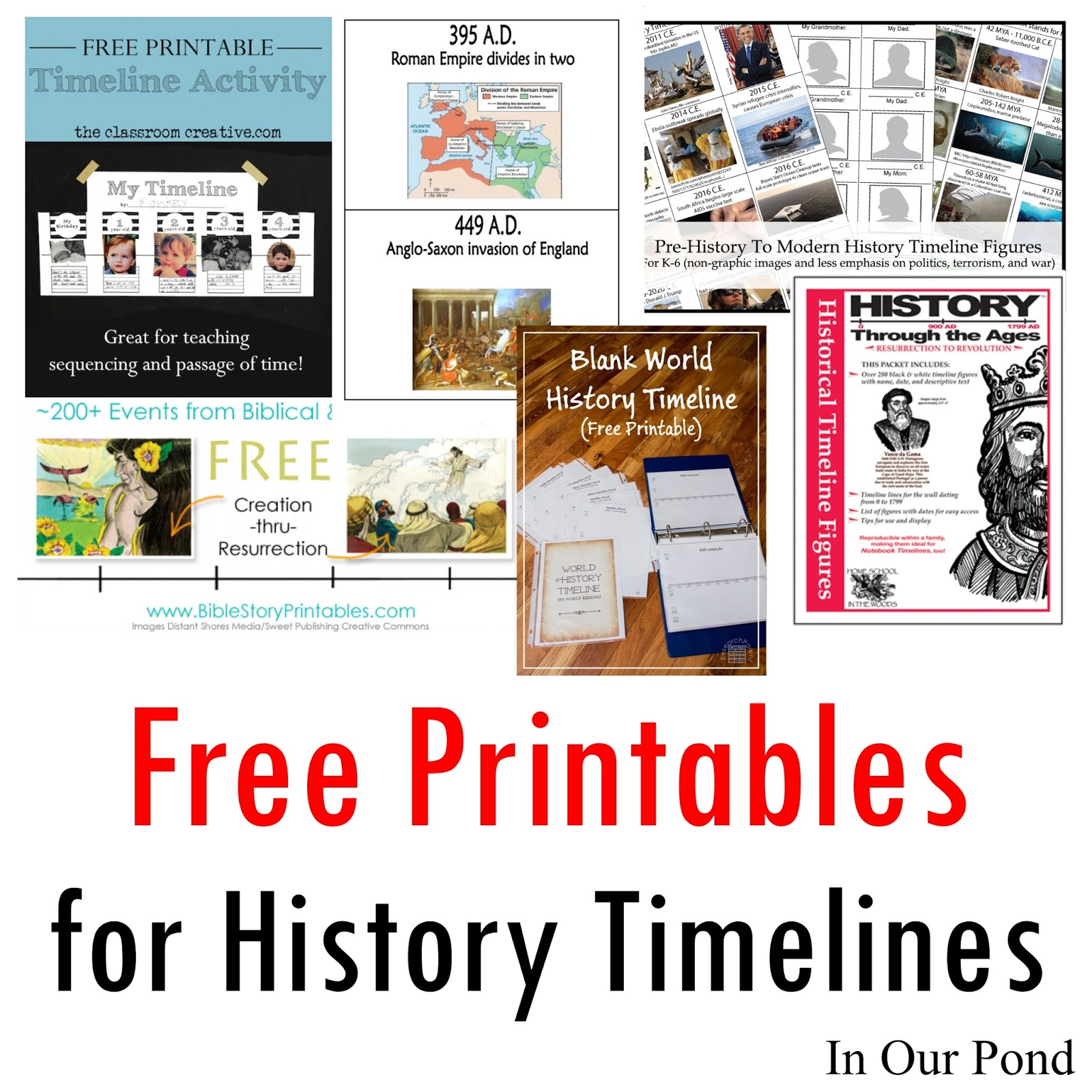 Free Printables for History Timelines   In Our Pond