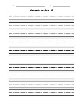 Lined Paper Template   Free & Premium Templates