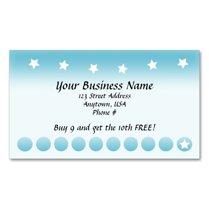 free business loyalty card template card template free printable