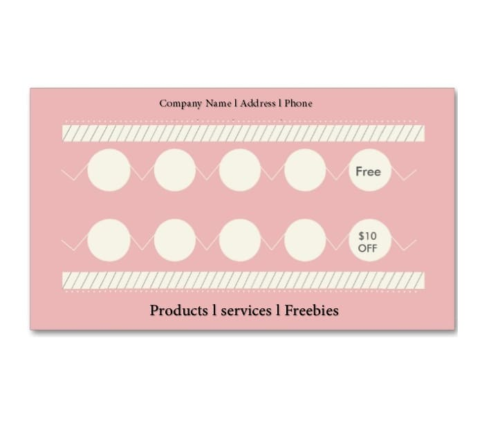 30 Printable Punch / Reward Card Templates [101% Free]