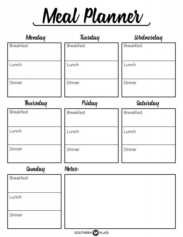 I'm happy to offer you this free printable Meal Planner! Click