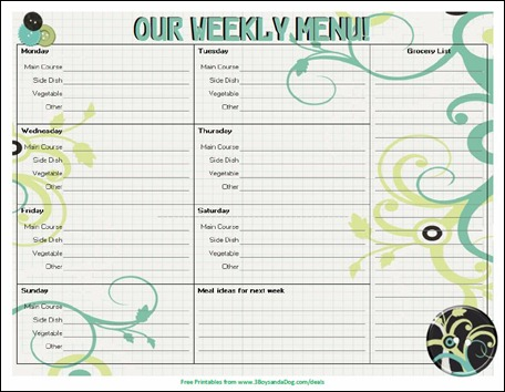 20 Free Menu Planner Printables   Welcome to the Family Table™