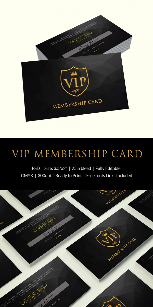 35+ Membership Card Designs & Templates | Free & Premium Templates
