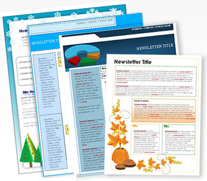 WordDraw.  Free Printable Newsletter Templates