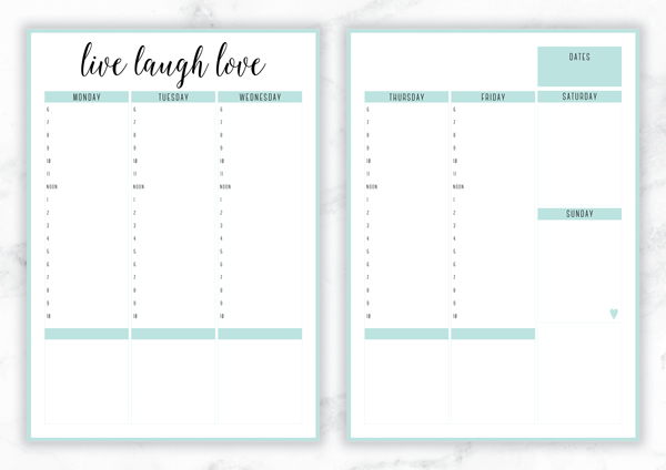 Free Printable Planner Templates 13   laurapo dol nick