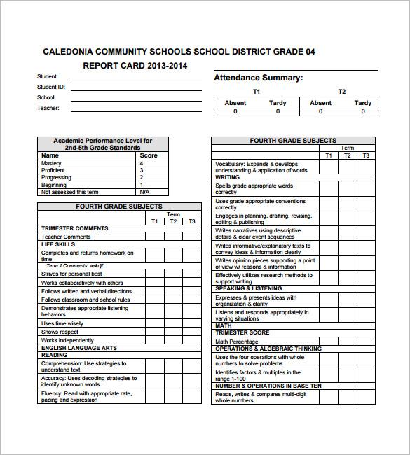 21+ Progress Report Card Templates   DOC, PDF, PSD, EPS | Free
