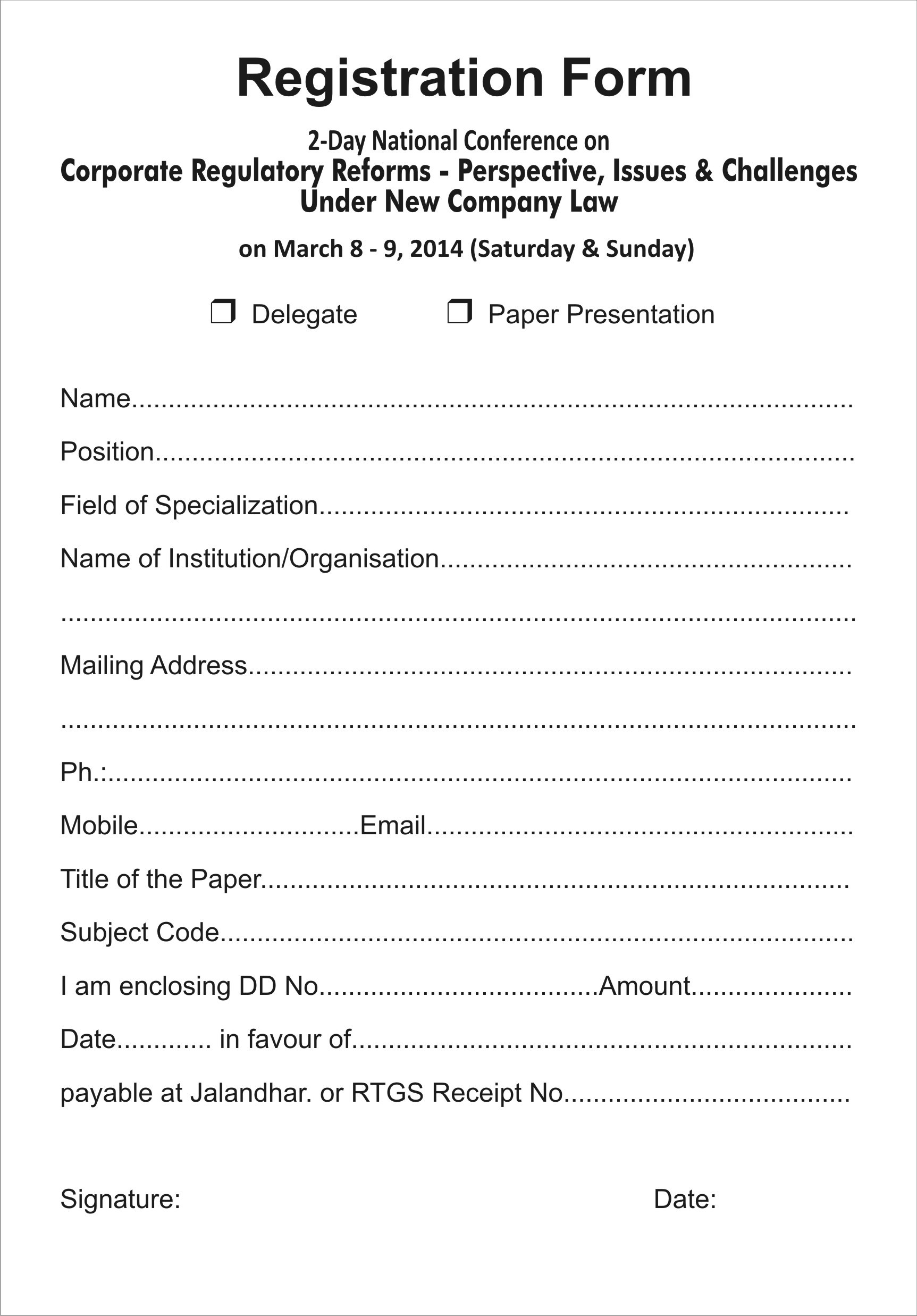photograph about Printable Registration Form Template referred to as Free of charge Printable Registration Style Template store fresh new