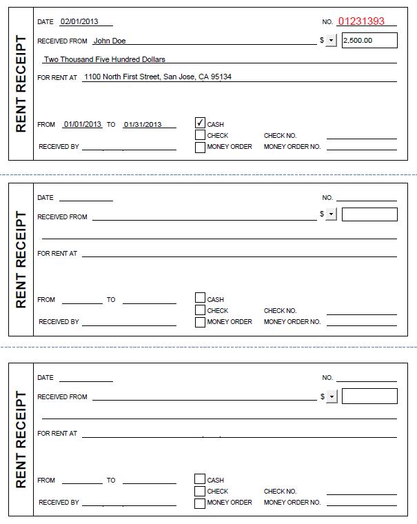 free printable rent receipt template printable rent receipt in pdf