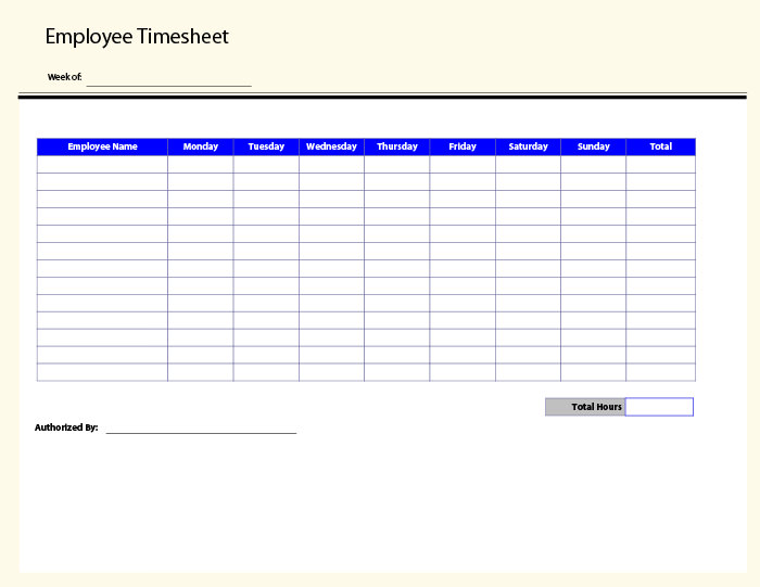 Free Printable Timesheet Templates Shop Fresh
