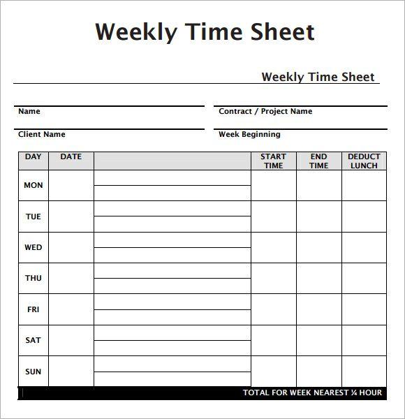 weekly time sheet sample   Demire.agdiffusion.com