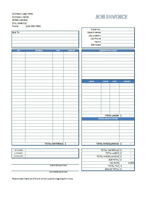 free printable invoices   Demire.agdiffusion.com