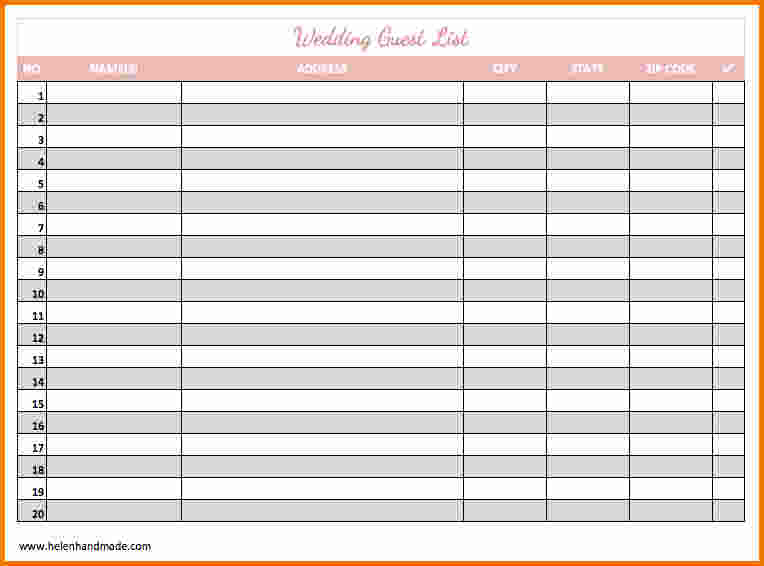 Free Printable Wedding Guest List 8   magnolian pc