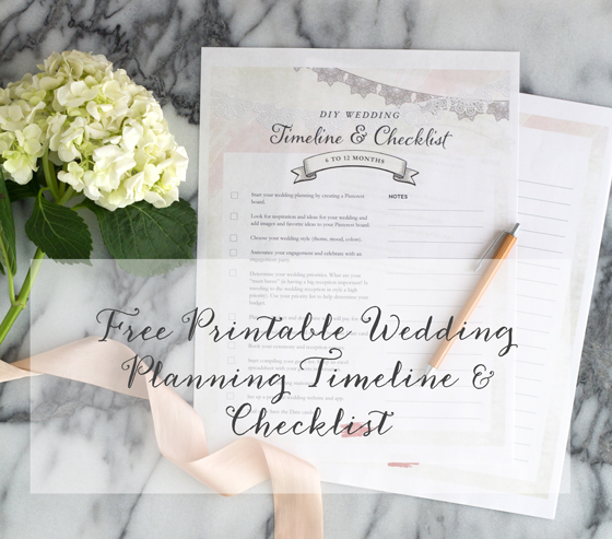 Free Wedding Planning Timeline Checklist Printable | The Elli Blog