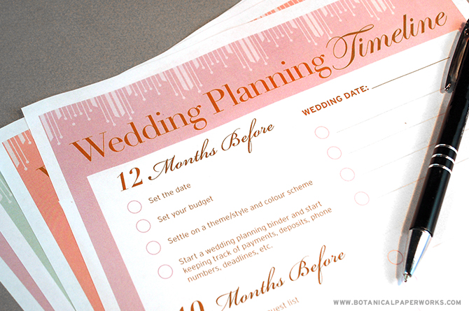 free printable} Wedding Planning Timeline | Blog | Botanical