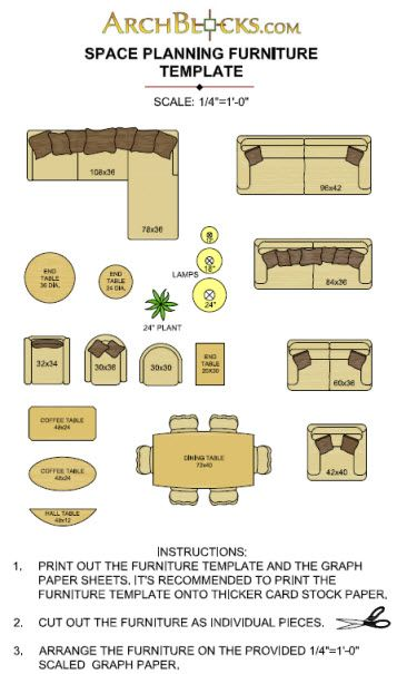 8 Best Images Of Printable Furniture Templates Free, Furniture