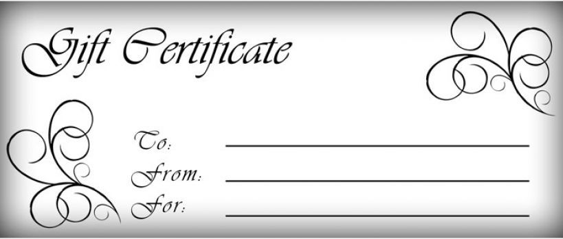gift certificates templates | Free printable gift certificate