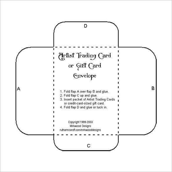 10+ Gift Card Envelope Templates   Free Printable Word, PDF, PSD