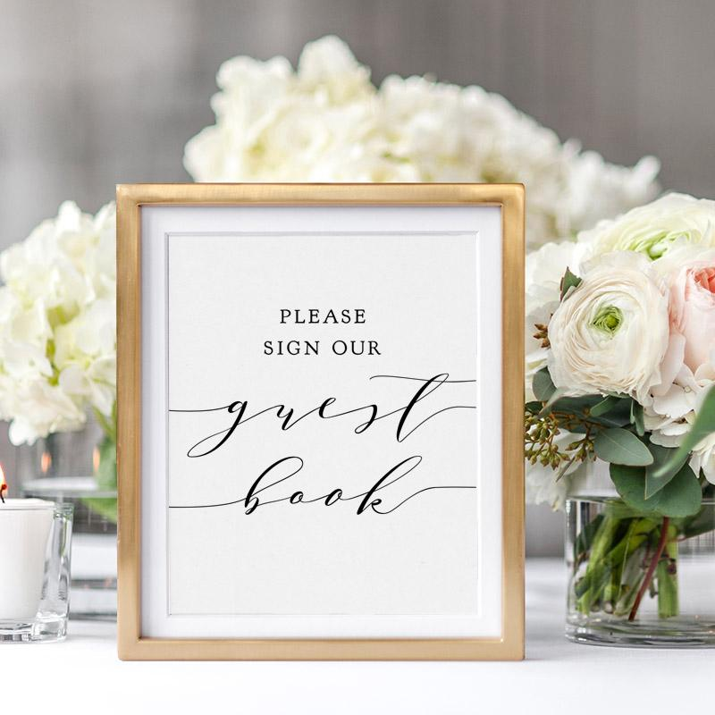 Free Printable Guest Book Sign   Connie & Joan