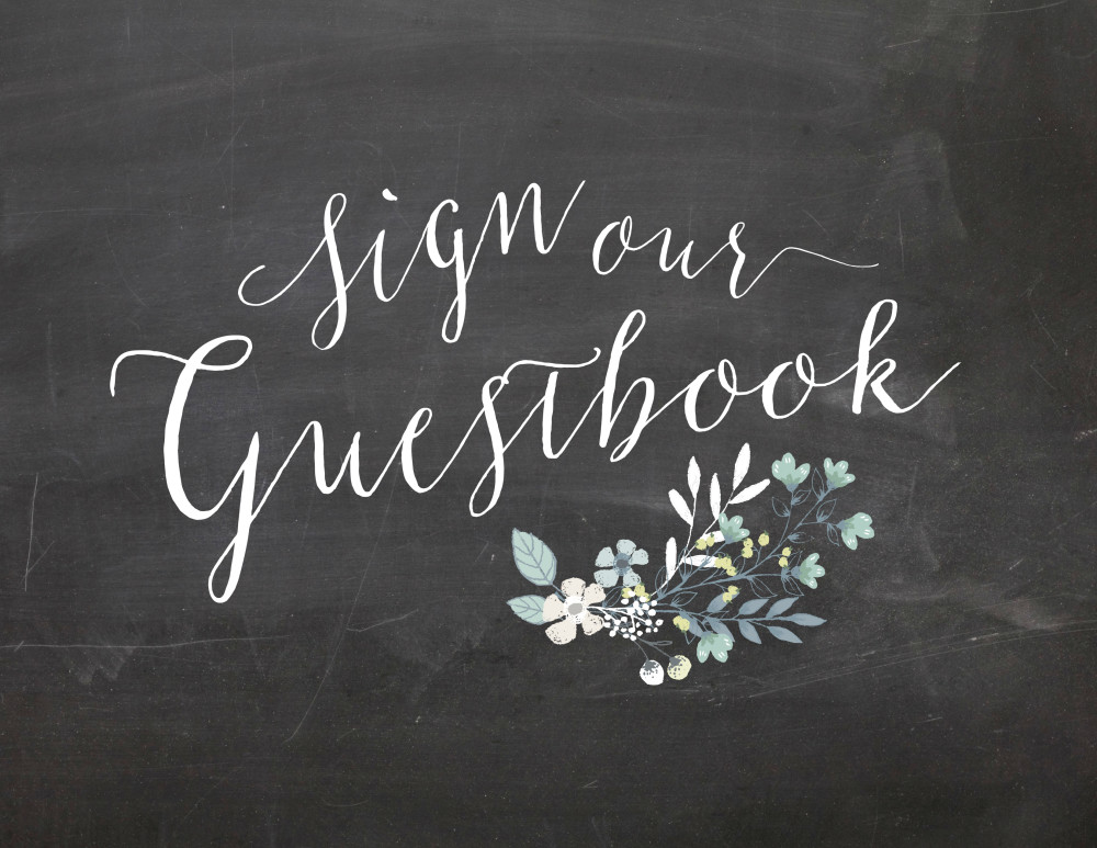 Sign Our Guestbook Chalkboard Wedding Sign Printable | Oconee Events