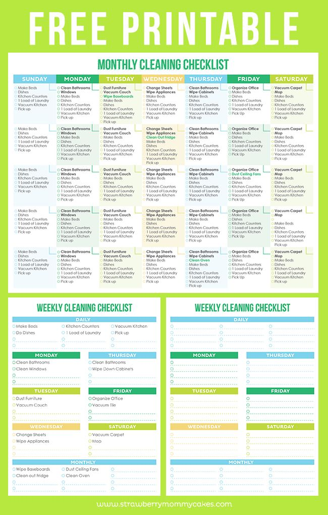 Maintain a Clean Home Printable Cleaning Schedule | Tips
