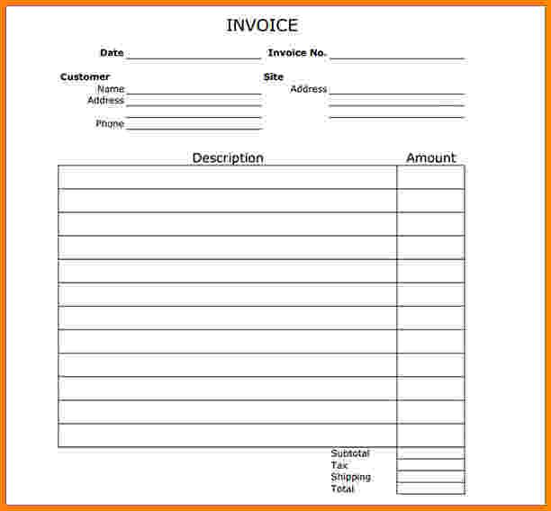 invoice templates printable free | Invoice Templates | Free Word