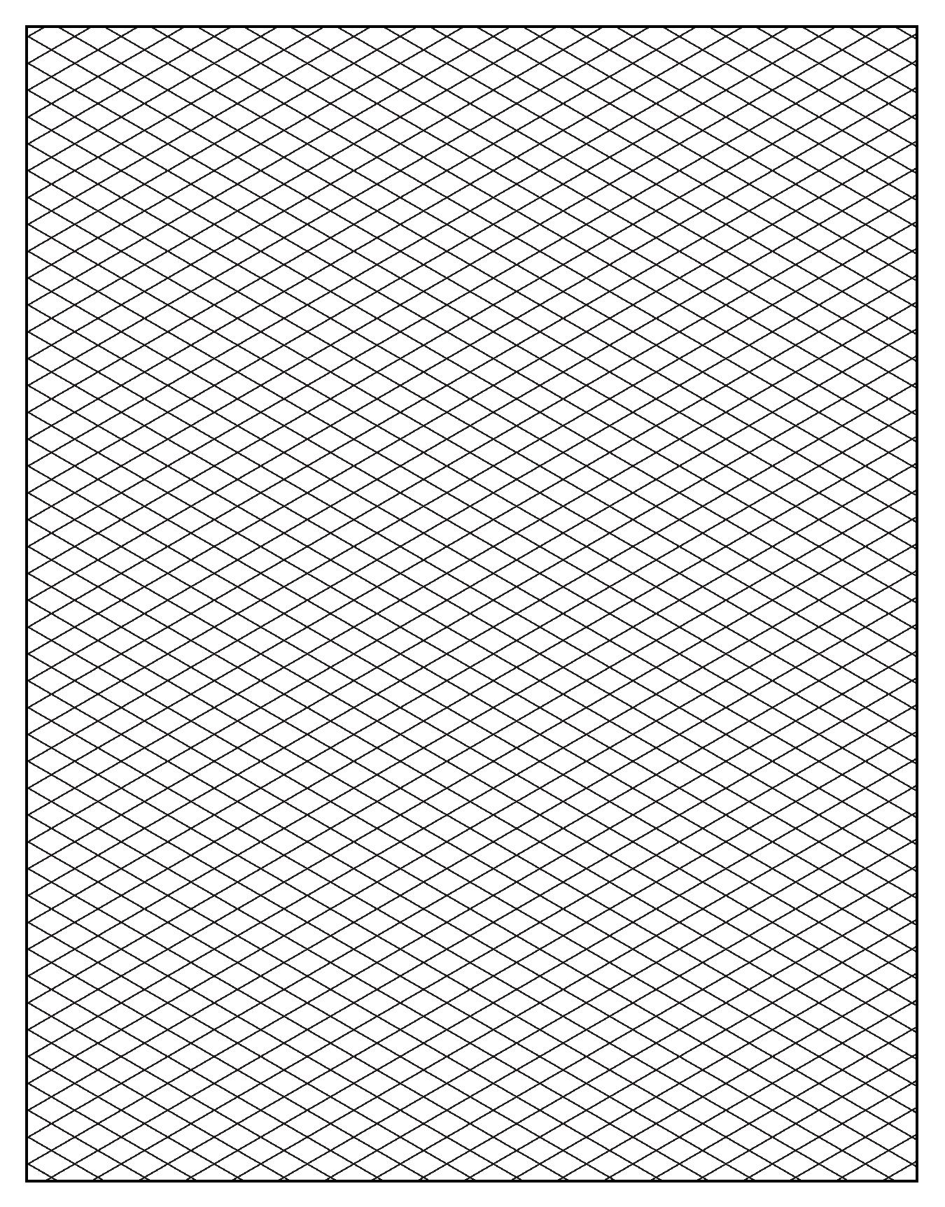 Free Printable Isometric Graph Paper