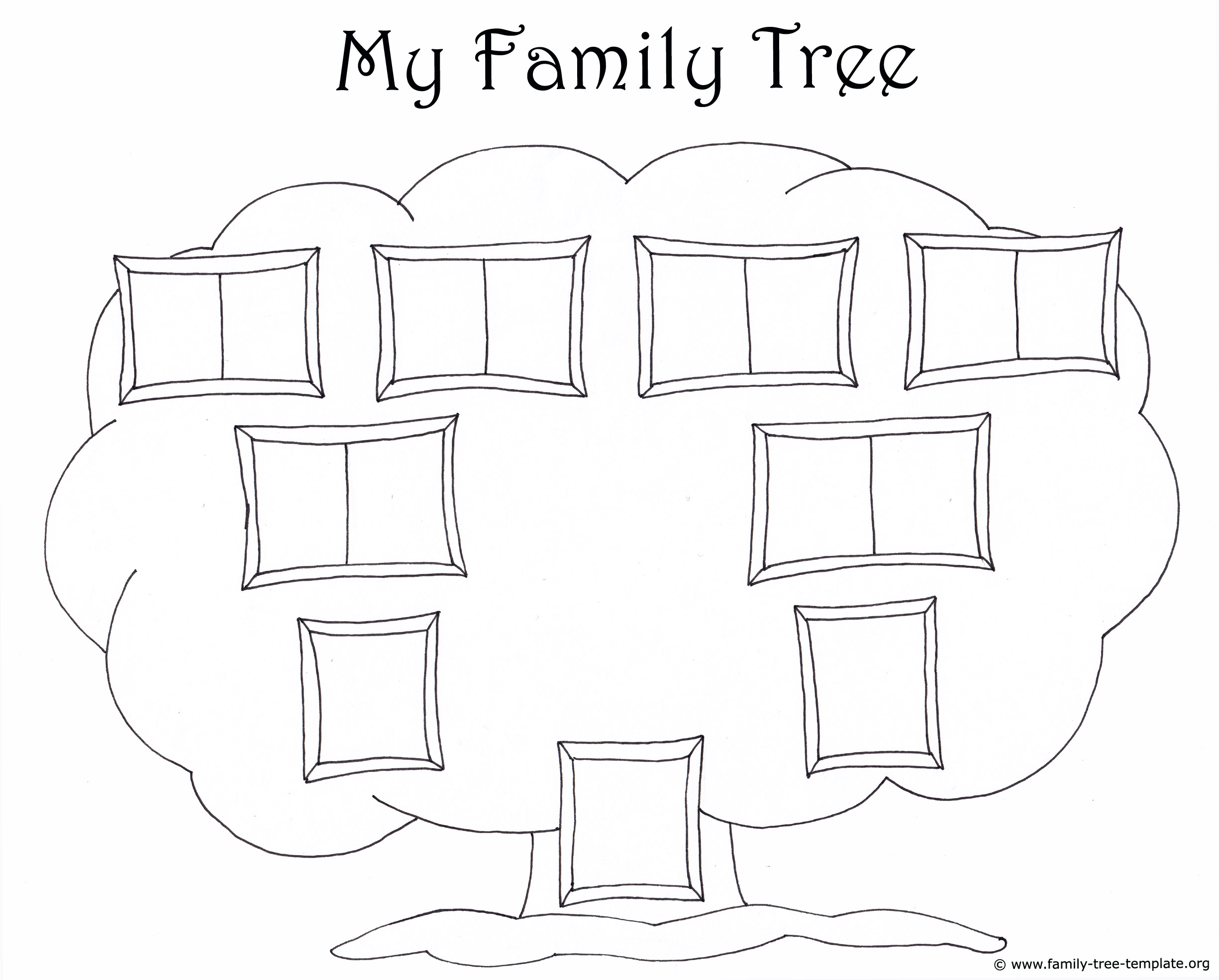 Family Tree Template for Kids: Printable Genealogy Charts