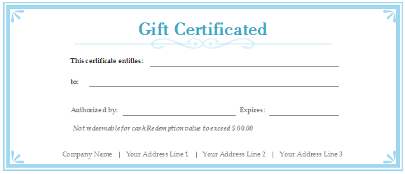 Free Gift Certificate Templates   Customizable and Printable
