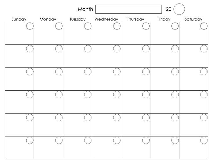 printable blank calendar pages   zrom.tk