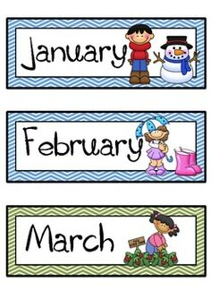 Printable Months of Year for at home classroom   Kid stuff