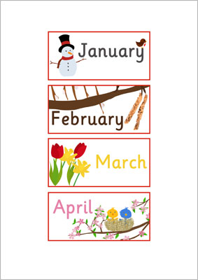 EYFS, KS1 Months of the Year Labels   Free Early Years & Primary