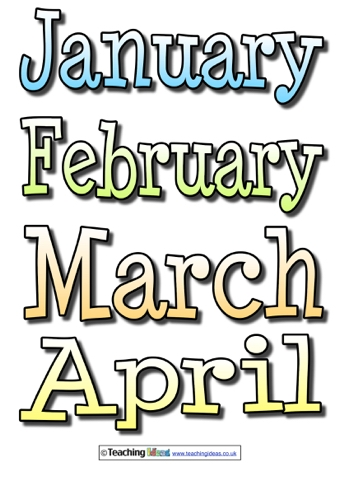 Months Of The Year Labels   Teaching Ideas