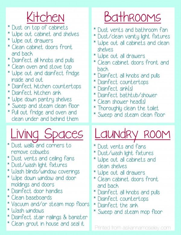 Clean Your House Before You Move In {FREE Printable