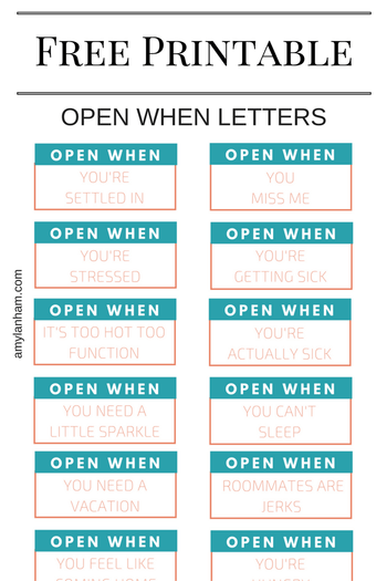 17 Cute Printable Open When Letters | Kitty Baby Love