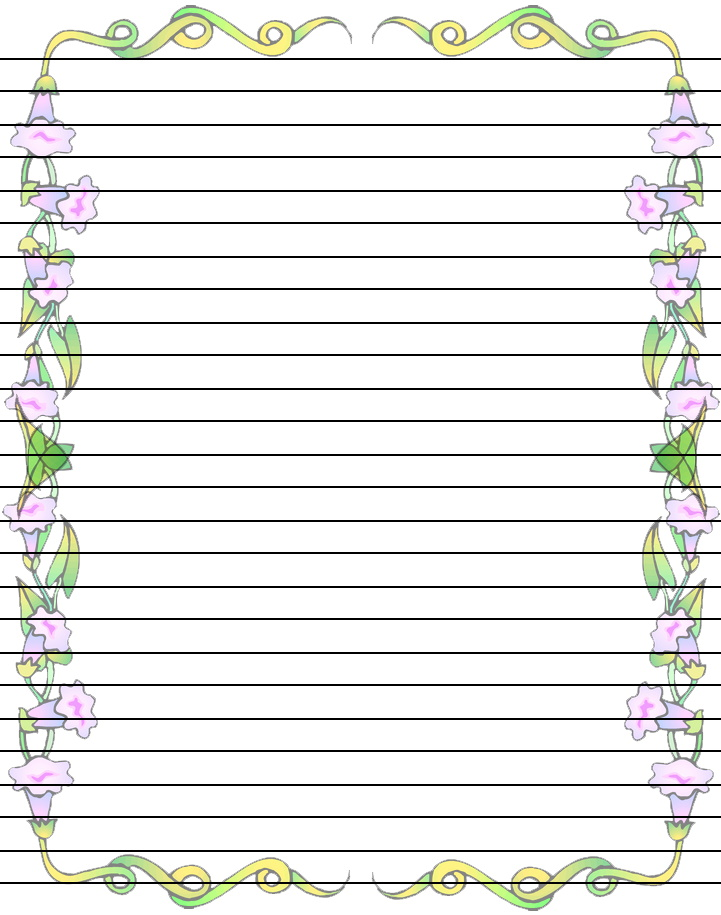 Writing paper with borders printable   Writing And Editing   Clip