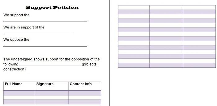 24+ Sample Petition Templates – PDF, DOC | Sample Templates