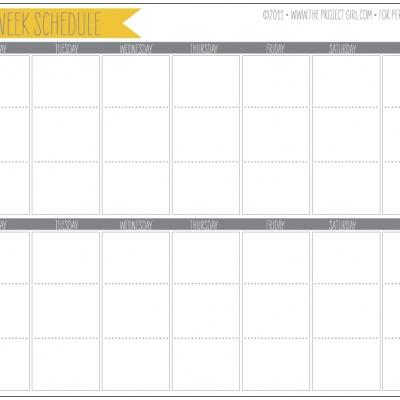 2 Week Planner Printable Calendar | Tip Junkie