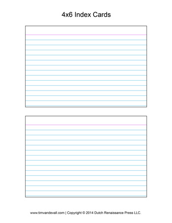 Printable Index Card Templates 3x5 And 4x6 Blank Pdfs Printable