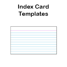 Printable Index Card Templates: 3x5 and 4x6 Blank PDFs